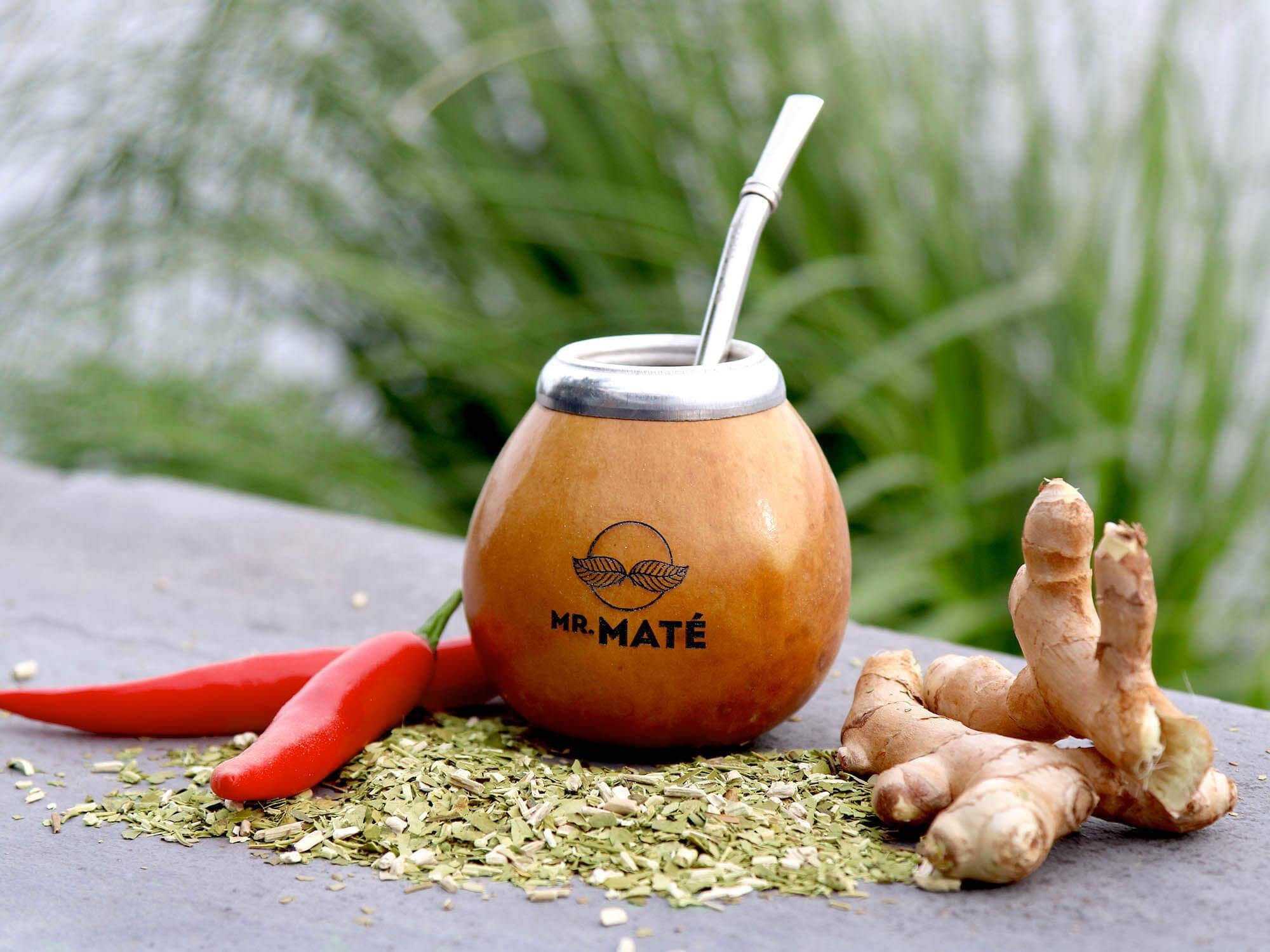 Spicy yerba guarana ginger