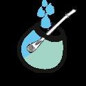 calabaza met water schenken mate drinken icon